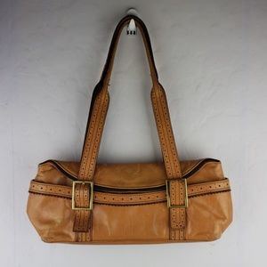 KENNETH COLE Tan Leather Shoulder Bag